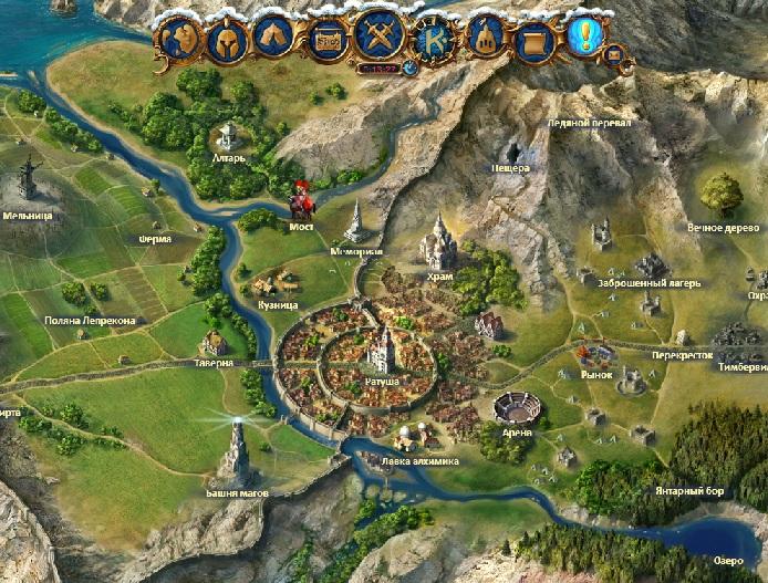 Карта мира в игре